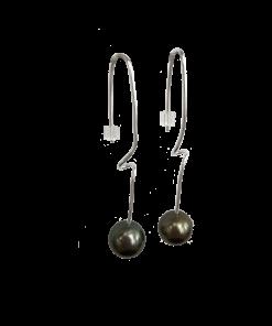 tahiti perle ørestikker